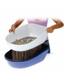 Trixie WC kočka Berto-dvojitá nádoba se sítem 59x39x22cm