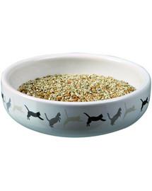 TRIXIE Miska keramická 15 x 4 cm na trávu pre mačky