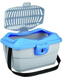TRIXIE Transportný box mini-capri 40 x 22 x 30 cm. nebesky modrý / strieborný