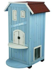 TRIXIE Domček pre mačky . 56 x 94 x 59 cm. nebesky modrý
