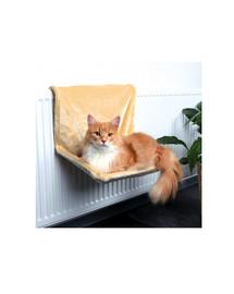 TRIXIE Závesné lôžko na radiátor pre mačky  48 × 26 × 30 cm béžové