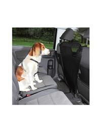 TRIXIE Ochrana predných sedadiel s vreckami do auta nylonová 60 x 44 x 69 cm čierna