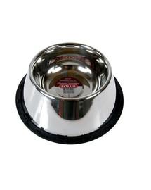 ZOLUX Miska inox s gumou pre psov s dlhými ušami 25 cm 0.98 L
