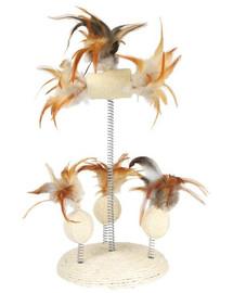 TRIXIE Zábavná hračka s perím, na pružine 15 x 30 cm