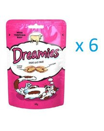Dreamies s hovädzím mäsom 0.06 kg x6