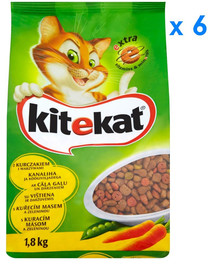 KITEKAT Kurczak i warzywa 1.8 kg x6
