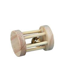 TRIXIE Hračka pre hlodavce drevený valček so zvončekom 3,5 cm x 5 cm