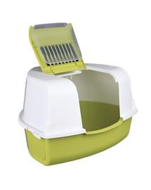 TRIXIE Krytá toaleta pre mačky rohová Tadeo 58 × 38 × 50/50 cm