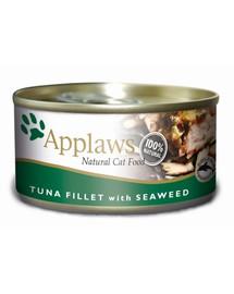APPLAWS Tuniak a morské riasy 156 g konzerva pre mačku