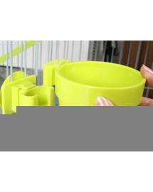 ZOLUX Miska plastová závesná na mriežku klietky Ø 9,5 cm zelená