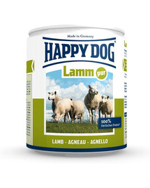 HAPPY DOG Konzerva pre psa - jahňacie (čisté jahňacie) 200g