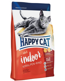 HAPPY CAT Fit & Well Indoor Adult Hovädzie 4 kg