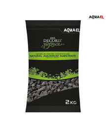Aquael štrk prírodný čierny 2kg  2-4 mm