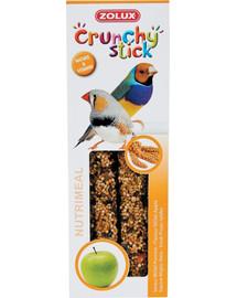 ZOLUX Crunchy Stick pre exotické vtáky  Proso/Jablko 85 g