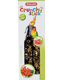 ZOLUX Crunchy Stick veľké papagáje ríbezľa / jarabina 115 g