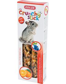 ZOLUX Crunchy Stick činčila trnka a pomaranč 115 g