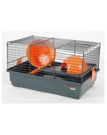 ZOLUX Klietka Indoor 50 cm pre škrečkov dvojitá sivo / oranžová
