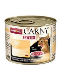 ANIMONDA Carny Kitten hydinový koktejl 200g