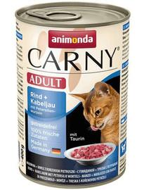 ANIMONDA Carny Cat hovädzie s treskou a petržlenom 400g