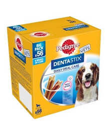 PEDIGREE Dentastix stredne veľké rasy 8 x180 g