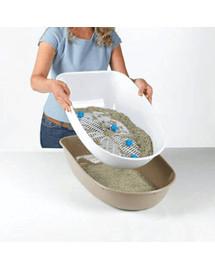 TRIXIE Mačacie WC Berto Top, nebesky modrý / svetlosivá / Grafitová, 39 × 42 × 59 cm