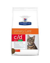 HILL'S Prescription Diet Feline c / d Stress Reduced Calorie Chicken 8 kg