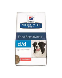 HILL'S Prescription Diet Canine d / d Salmon & Rice 12 kg