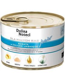 DOLINA NOTECI Premium Junior malé rasy jahňacie žalúdky 185g