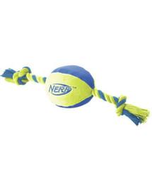 NERF Nylonová lopta s povrazom M zelená/oranžová