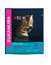 EUKANUBA Cat Senior All Breeds Top Condition Chicken & Liver 400 g