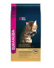 EUKANUBA Cat Adult All Breeds Healthy Digestion Lamb & Liver 4 kg