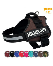 TRIXIE Postroj Julius-K9®, 1/L: 66–85 cm/50 mm, mokka