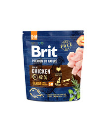 BRIT Premium By Nature Senior Small Medium S+M 1 kg