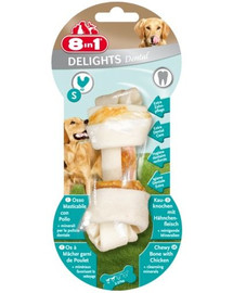 8in1 Maškrta dental delights bone S 1 ks