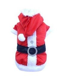 DOGGY DOLLY Kostým Santa Claus červený, XXS 13-15 cm/26-28 cm