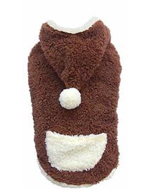 DOGGY DOLLY Mikina s kapucňou, hnedá, XXS 13-15 cm/26-28 cm