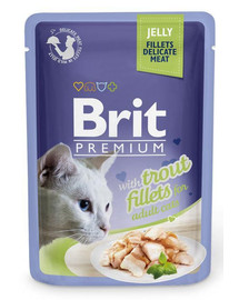 BRIT Premium Cat  Fillets in Jelly Trout 85g