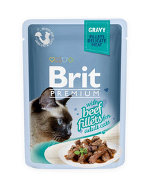BRIT Premium Cat Fillets in Gravy Beef 85 g