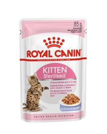 ROYAL CANIN Kitten Sterilised pre sterilizované mačiatka v želé 85g