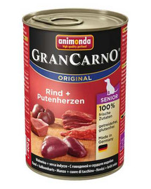 ANIMONDA Grancarno Senior kuracie/morčacie srdcia konzerva 400 g
