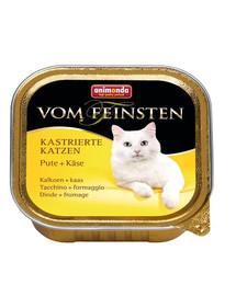 ANIMONDA Paštéta pre mačky vom Feinsten Kastrierte morčacie a syr 100 g