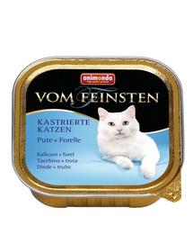ANIMONDA Vom Feinsten paštéta pre kastrované mačky morka + pstruh 100 g