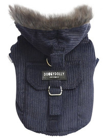 Doggy Dolly bunda s kapucňou, tmavo modrá, M 28-30 /41-43