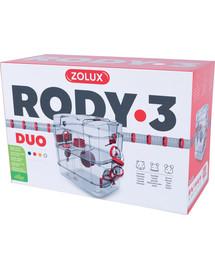 ZOLUX Klietka pre škrečkov Rody 3 DUO červená 41x27x40,5cm
