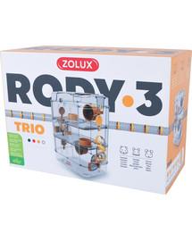 ZOLUX Klietka pre škrečkov Rody 3 TRIO žltá 41x27x53cm