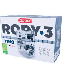 ZOLUX Klietka škrečok Rody 3 TRIO modrá 41x27x53cm