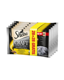 SHEBA Craft Collection Kuracie v omáčke 85 g 4 + 4 GRATIS x7