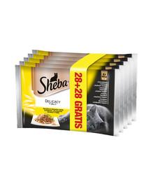 SHEBA Delicacy in Jelly 85 g 28 + 28
