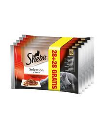 SHEBA Selection in Sauce 85 g 4 + 4 GRATIS x7