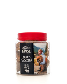 SIMPLY FROM NATURE Baked Cookies with wild boar Sušienky s diviačím mäsom 300 g